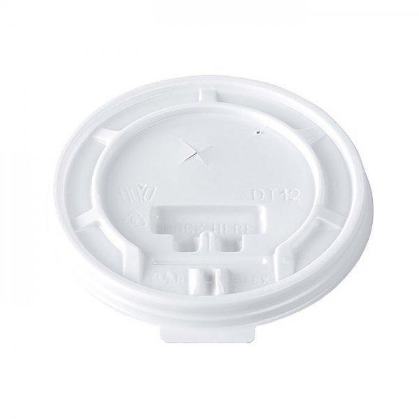 100 couvercles en plastique pour gobelets thermo 33 cl