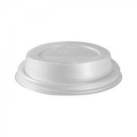 50 couvercles en plastique blanc biodégradable pour gobelets triple paroi 24 cl