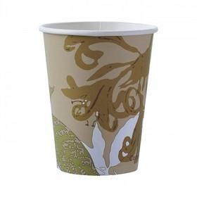 50 gobelets en papier biodégradable pour boisson chaude marron 24 cl