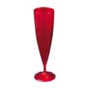flûte à champagne monobloc de luxe design rouge carmin (13 cl) x 10