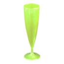 Flûte à champagne monobloc de luxe design vert anis (13 cl) x 10