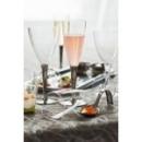 100 flûtes à Champagne en plastique pied argent 10 cl