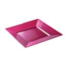assiette carrée plastique fuchsia prestige (18 cm) x 12