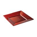 assiette carrée plastique rouge carmin prestige (18 cm) x 12