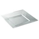 assiette carrée plastique cristal prestige (18 cm) x 12