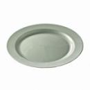 assiette ronde plastique argent prestige (24 cm) x 132
