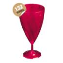 Verre cristal à eau jetable design rose magenta x 132