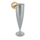 flûte à champagne monobloc de luxe design argent 13 cl x 200