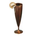 Flûte à champagne monobloc de luxe design marron 13 cl x 200