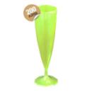 Flûte à champagne monobloc de luxe design vert anis 13 cl x 200
