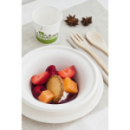 50 assiettes rondes creuses biodégradables 18 cm