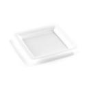assiette carrée plastique rigide blanc (18 cm) x 20