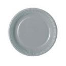 assiette en carton gris (23 cm) x 20