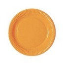 Assiette en carton orange (23 cm) x 20