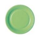 assiette en carton vert anis (23 cm) x 20