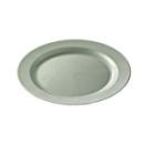 Assiette ronde en plastique rigide argent (19 cm) x 12