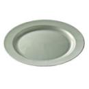 assiette ronde en plastique rigide argent (24 cm) x 12