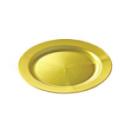 assiette ronde en plastique rigide or (19 cm) x 12