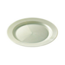 assiette ronde en plastique rigide blanc nacré (19 cm) x 12