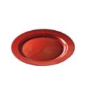 assiette ronde en plastique rigide rouge carmin (19 cm) x 12