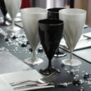 Verre cristal à eau jetables design noir x 132