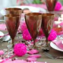 Verre cristal à eau jetables design chocolat x 132