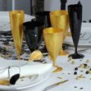 Flûte à champagne monobloc de luxe design or 13 cl x 200