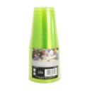 10 verres en plastique rigide vert anis 20 cl