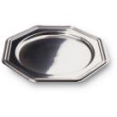 5 plats en plastique rigide octogonal métallisé 30 cm