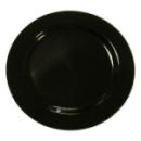 20 assiettes en plastique rigide noir 19 cm