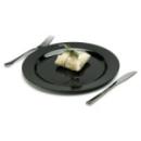 20 assiettes en plastique rigide noir 15 cm
