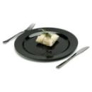 Assiette en plastique rigide noir (23 cm) x 20