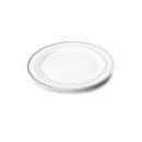 20 assiettes en plastique rigide blanc liseré argent 15 cm