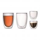 Set 4 verres double paroi PAVINA BODUM® 8 cl et 35 cl