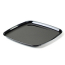 Plateau carré en plastique rigide noir (35 cm) x 5