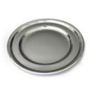 5 sous-assiettes rondes en plastique rigide argent 30 cm