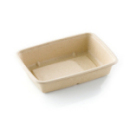 Barquette biodégradable rectangle basse (950 ml) x 75