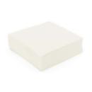 serviette cocktail papier micro gaufrée blanc (25 cm) x 50
