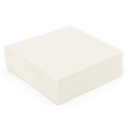 serviette cocktail papier micro gaufrée blanc (38 cm) x 50