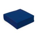 serviette cocktail papier micro gaufrée bleu (25 cm) x 50