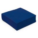 serviette cocktail papier micro gaufrée bleu (38 cm) x 50