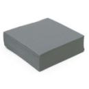 serviette cocktail papier micro gaufrée gris (38 cm) x 50