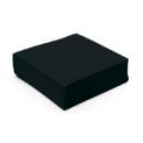 serviette cocktail papier micro gaufrée noir (25 cm) x 50