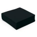 serviette cocktail papier micro gaufrée noir (38 cm) x 50