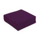serviette cocktail papier micro gaufrée prune (25 cm) x 50