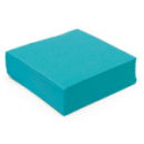 serviette cocktail papier micro gaufrée turquoise (38 cm) x 50