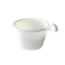 tasse à café en plastique blanc avec anse 10 cl x 50