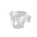 Tasse à café en plastique transparent avec anse 18 cl x 50
