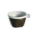 Tasse à café en plastique marron/blanc avec anse 17 cl x 50