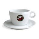 Tasse Caffè Vergnano en porcelaine blanc pour chocolat  x 6